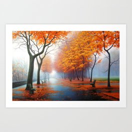 forest red Art Print