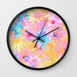 flower power Wall Clock