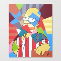 simpson Canvas Prints featuring Homer Simpson by iankingart