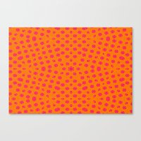 orange pattern Canvas Prints featuring orange Pattern by LoRo  Art & Pictures