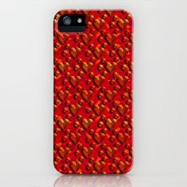 Muster Herzen 1 - Pattern Hearts 1 iPhone Case