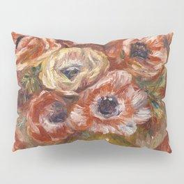 """Auguste Renoir """"Anémones dans un vase"""" Pillow Sham"""