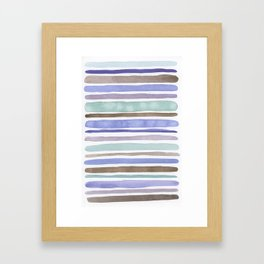 multi stripes II Framed Art Print