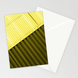 Aluminum Wall - Yellow & Green Stationery Cards