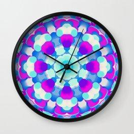 Blue Pink Purple White Kaleidoscopic Design - 100321.2 Wall Clock