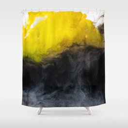 Vivid Mix Of Ink Clouds Shower Curtain