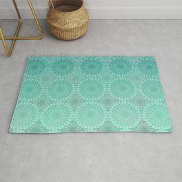 Laced in Teal Rug