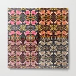 Coneflower Medley, Echinacea Pattern, Midwestern Flowers Metal Print