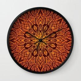 Fire Spirit Mandala Art Wall Clock