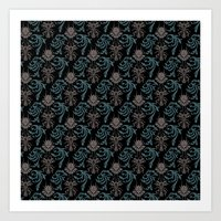 Buggy Damask Art Print