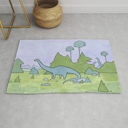 Sauropods and Conifers Rug