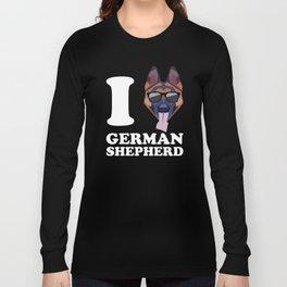 I Love German Shepherd modern v2 Long Sleeve T-shirt