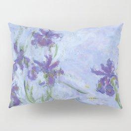 "Claude Monet ""Iris mauves"" Pillow Sham"