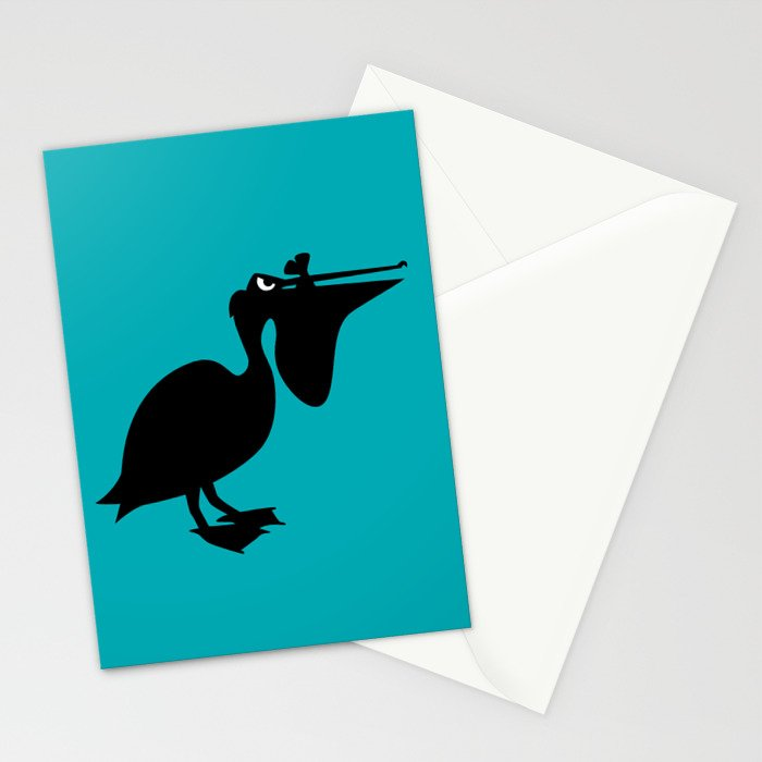Angry Animals: Pelican Stationery Cards