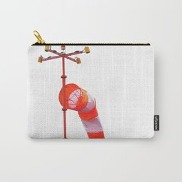 Orange-white windsock on white isolate background Carry-All Pouch