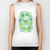lime Biker Tanks featuring Space lime by Marcelo Romero
