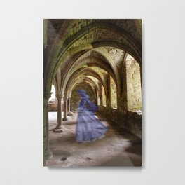 Blue Spectre in the Abbey Metal Print