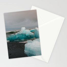 Sunset at the Glacier Lagoon in Iceland Stationery Cards