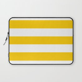 USC Gold - solid color - white stripes pattern Laptop Sleeve
