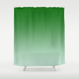 Green to Pastel Green Horizontal Linear Gradient Shower Curtain