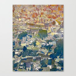 From the Acropolis - Watercolor and Ink on Paper - 2012 Canvas Print