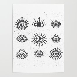 Evil Eyes - symbol of protection Poster