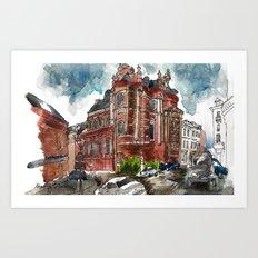 Santa Misa Rain Art Print