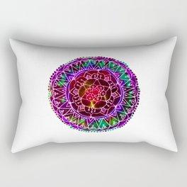Colorwheel Mandala Purple Rectangular Pillow