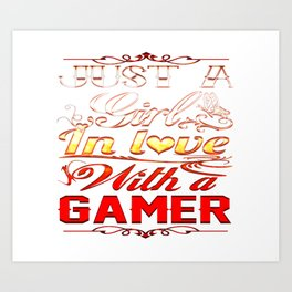 In love with a Gamer Art Print