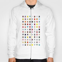 Minimalism robots (Good natured / Defenders) Hoody