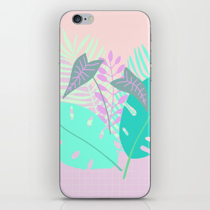 Modern tropical leaves print with monstera iPhone Skin