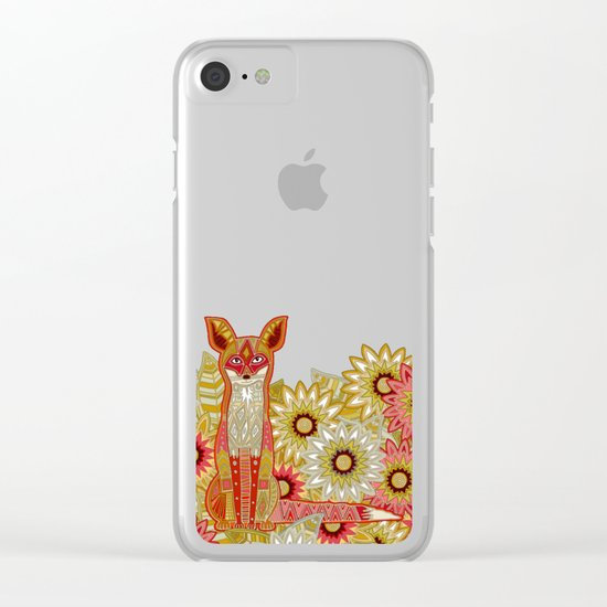 garden fox Clear iPhone Case