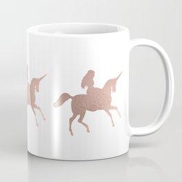Rose gold unicorn Coffee Mug