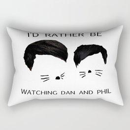 I'd rather be watching Dan and Phil Rectangular Pillow