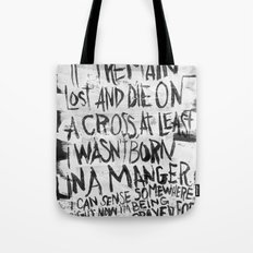 BORN IN A MANGER Tote Bag