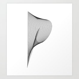 """Linear Collection"" - Minimal Letter P Print Art Print"