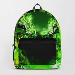 wolves hate monday splatter watercolor green Backpack
