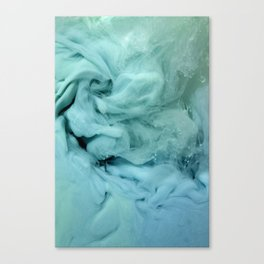 Blue and Green Swirl Canvas Print