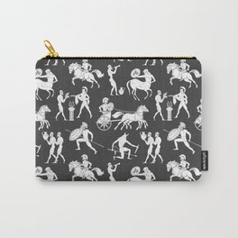 Greek Figures // Dark Grey Carry-All Pouch