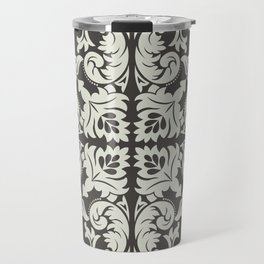 Luxury elegant texture of baroque style illustration pattern. Luxury monochrome background with baroque ornament. Vintage ornate royal texture. Travel Mug