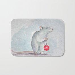 Chritmas rat Bath Mat