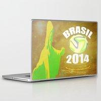 brasil Laptop & iPad Skins featuring Brasil 2014 by Beard Brothers Designs