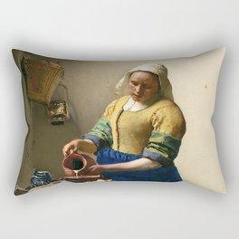 "Johannes Vermeer ""The Milkmaid"" Rectangular Pillow"
