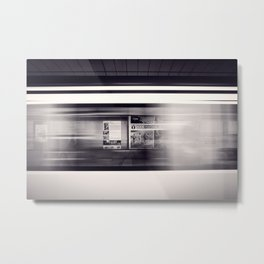 metro long exposure Metal Print