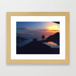 Jamacain Sunset Framed Art Print