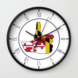 Thumbs Up Maryland Wall Clock