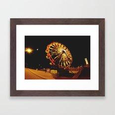 Night to remember. Framed Art Print