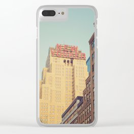 Vintage New Yorker Clear iPhone Case