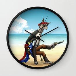 Frumpy Pirate Wall Clock
