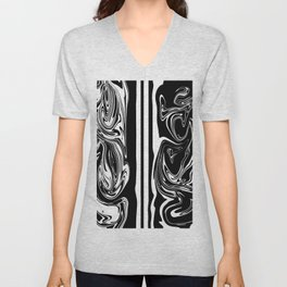 Stripes, distorted 5 Unisex V-Neck